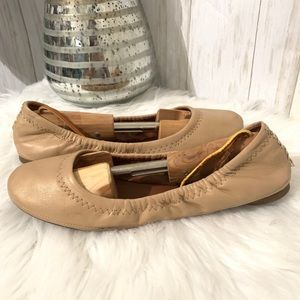 Lucky Brand Eton Tan Flats Size 8